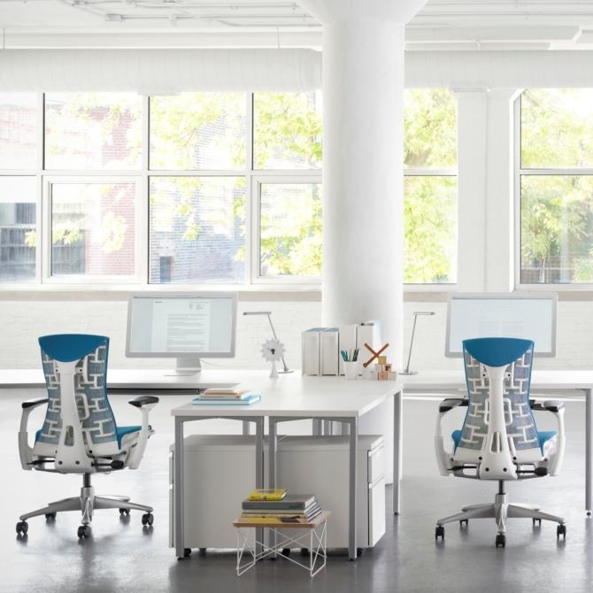 HERMAN MILLER EMBODY Cadeira ergonomica de escritorio