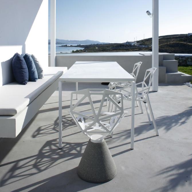 MAGIS Chair One Concrete Base view