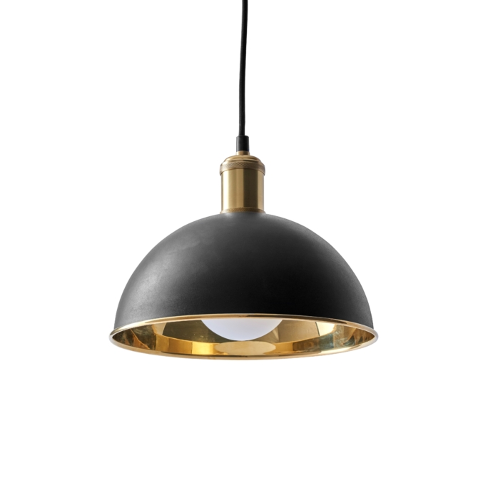 MENU Hubert Pendant bronzed brass scaled