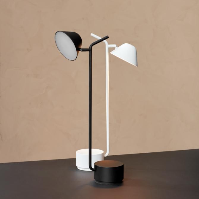 MENU Peek Table Lamp black white scaled