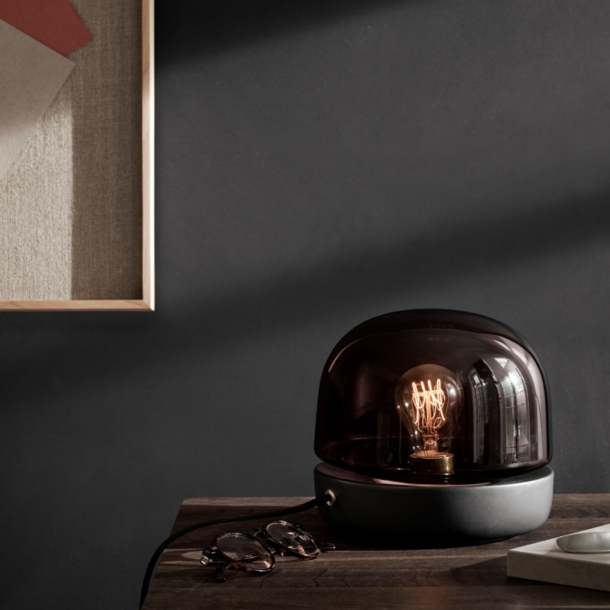 MENU Stone Lamp anthracite light scaled