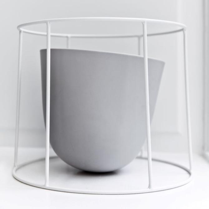MENU Wire Base Wire pot white