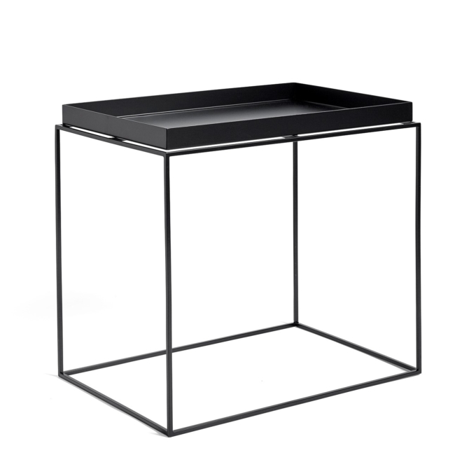 Mesa de apoio Hay Tray Table black high