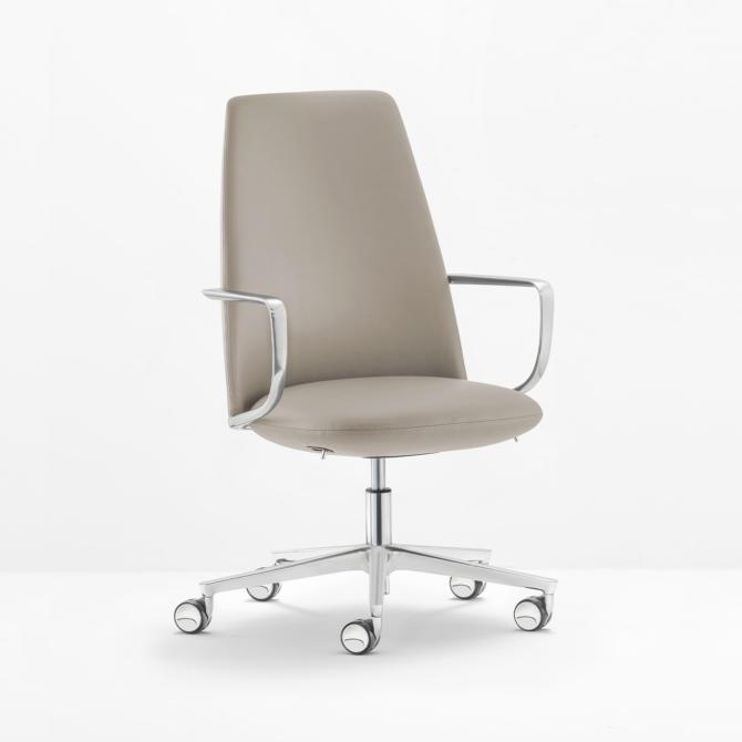 Cadeira de executivo PEDRALI Elinor 3755 cinza