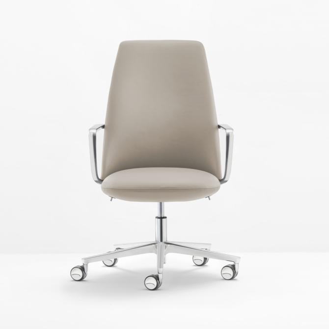 Cadeira de executivo PEDRALI cinza Elinor 3755