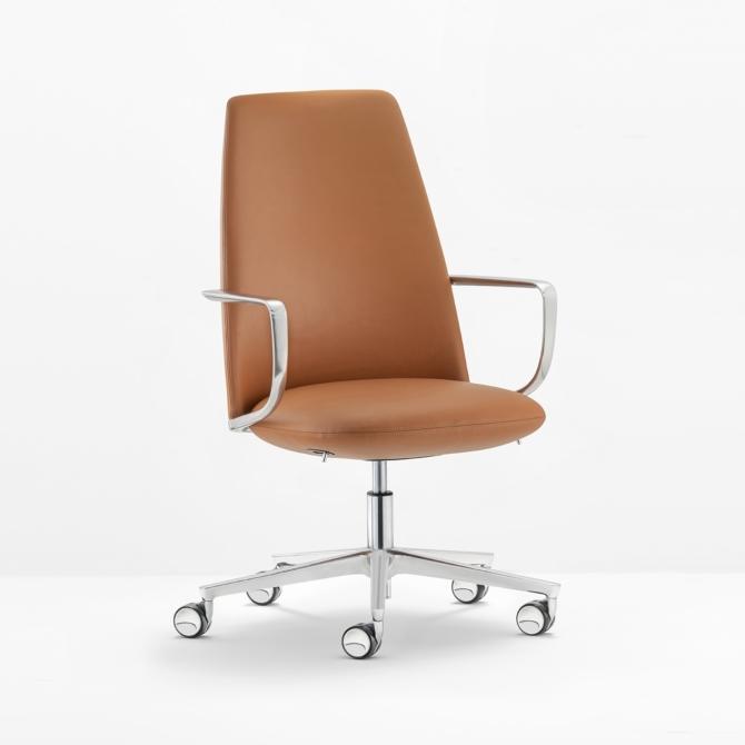 Cadeira de executivo PEDRALI pele Elinor 3755