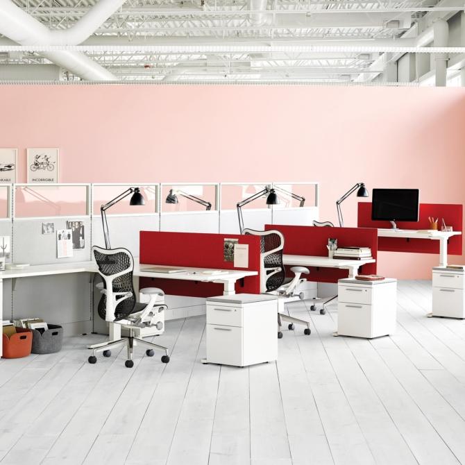 Mesas de escritorio HERMAN MILLER Action Office