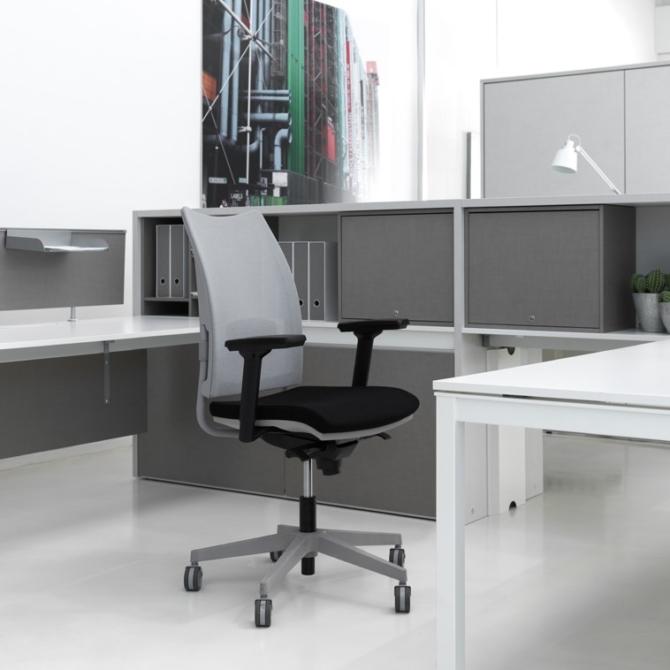 Cadeira para secretaria Luxy Overtime grey
