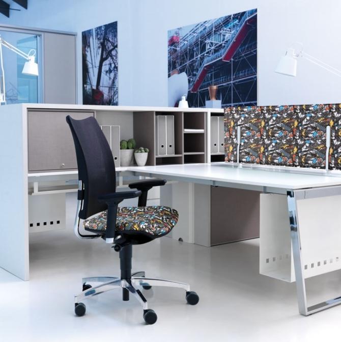 Cadeira para secretaria Luxy Overtime office