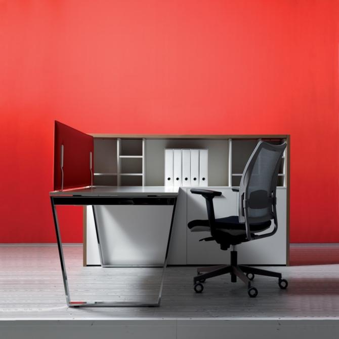 Cadeira para secretaria Luxy Overtime red
