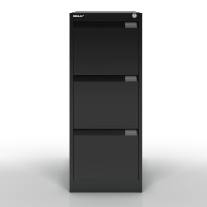 Armario de arquivo BISLEY 1633D BS negro front scaled