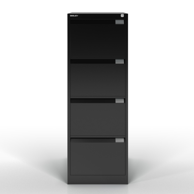 Arquivo de 4 gavetas BISLEY BS 1643D negro front scaled
