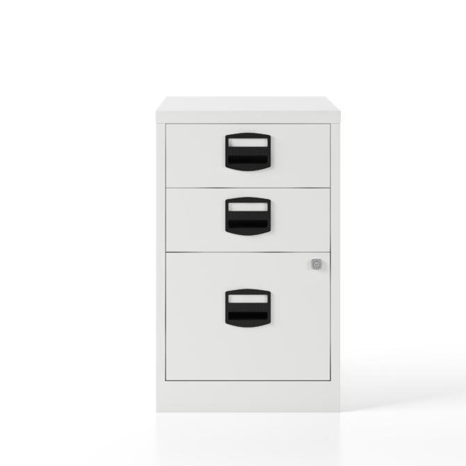 Arquivo escritorio 3 gavetas BISLEY PFA3 blanco front scaled