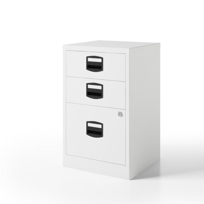 Arquivo escritorio 3 gavetas BISLEY PFA3 blanco left scaled