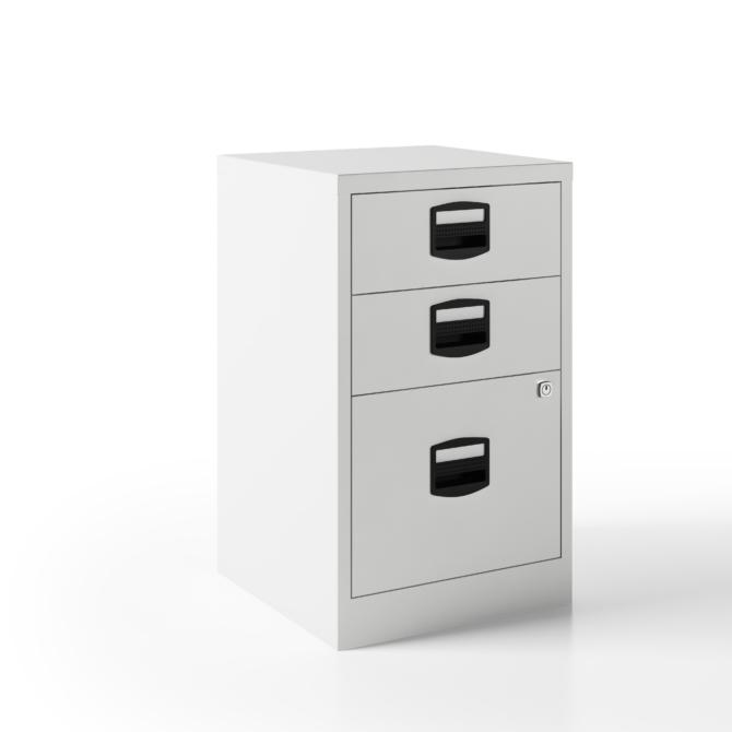 Arquivo escritorio 3 gavetas BISLEY PFA3 blanco right scaled