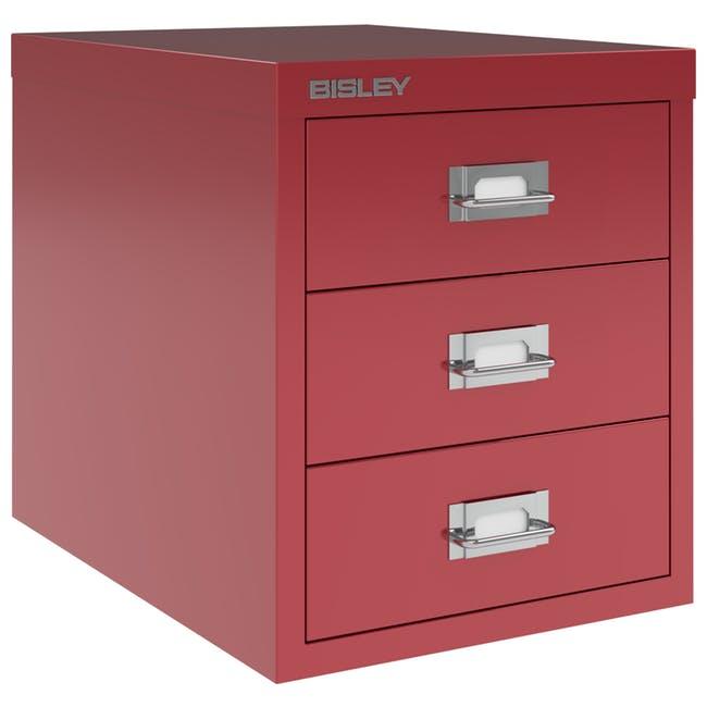 Gaveiteiro 3 gavetas BISLEY H123NL Cardinal Red 1