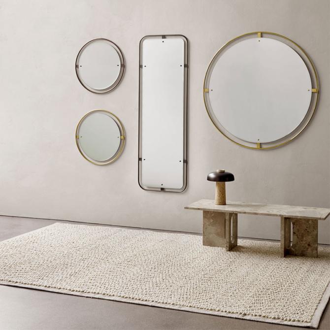 MENU Nimbus Mirror Gravel Rug Androgyne Lounge Table Reverse Table Lamp