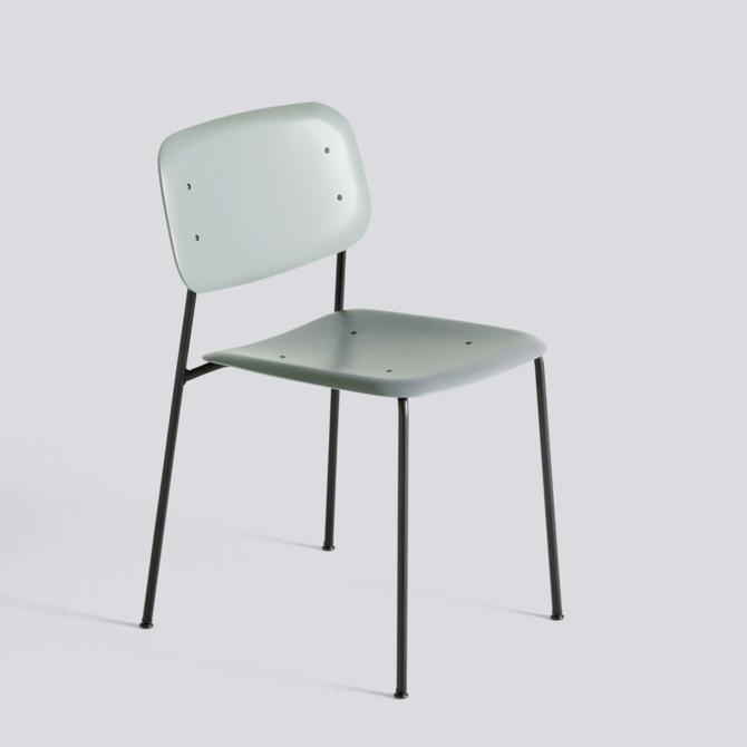 1990303009000zzzzzzz variant soft edgep10 chair dusty green polypropylene shell black powder coated steel legs